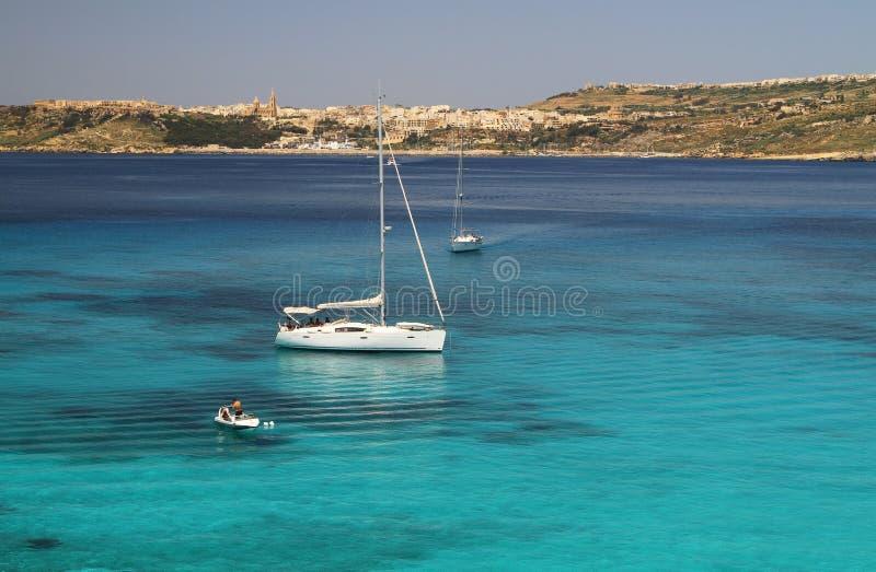 Blaue Lagune - Comino - Malta lizenzfreie stockfotografie