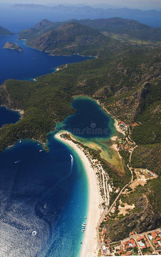 Blaue Lagune in der Türkei lizenzfreies stockbild