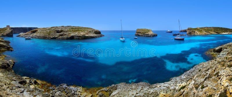 Blaue Lagune in Malta lizenzfreies stockfoto