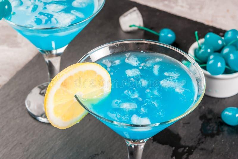 Blaue Lagune oder Blau Curaçao lizenzfreie stockbilder
