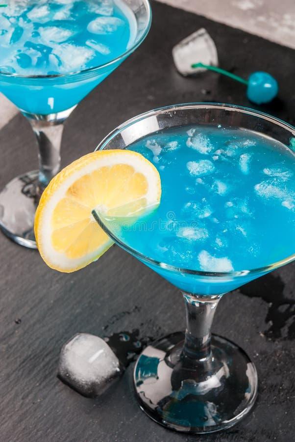Blaue Lagune oder Blau Curaçao lizenzfreies stockbild