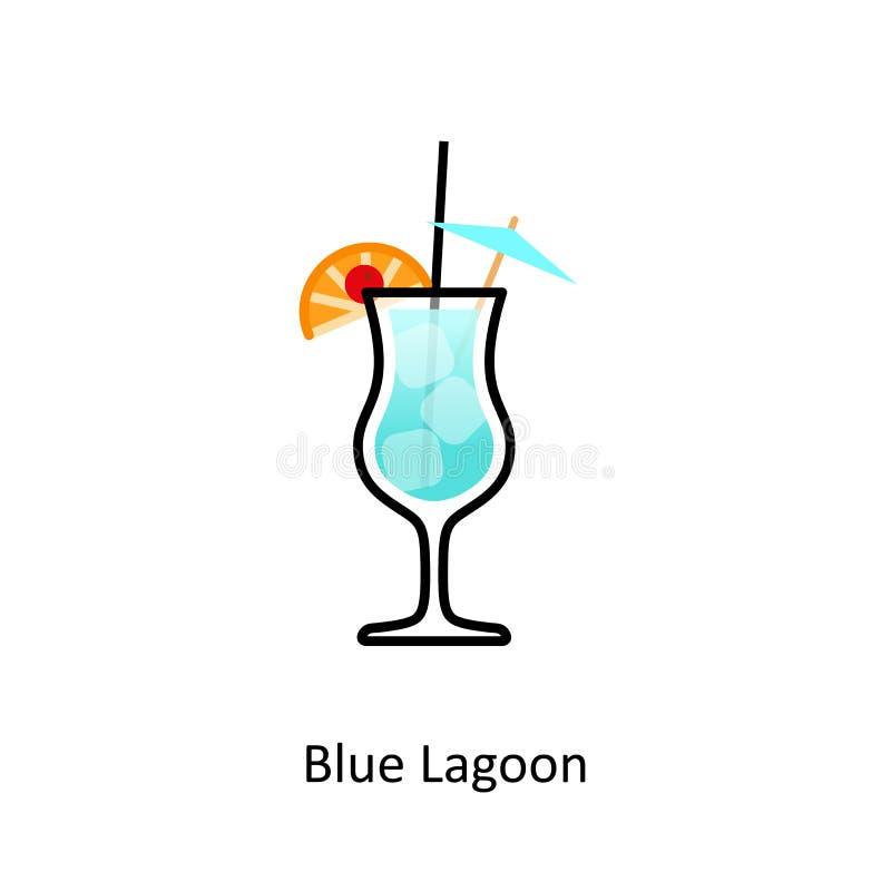 Cocktail-blau-Mischen Sie Vektor Abbildung. Illustration