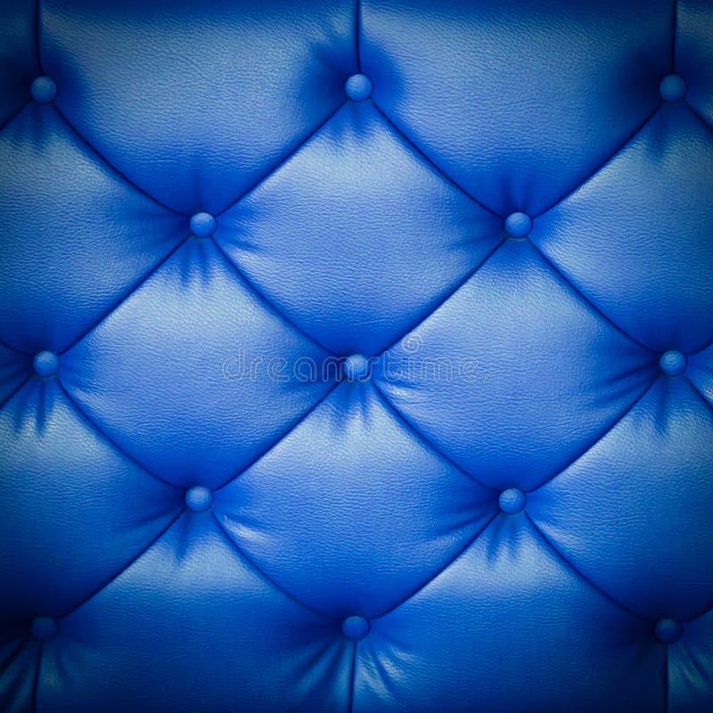Blaue lederne Beschaffenheit stockfotografie