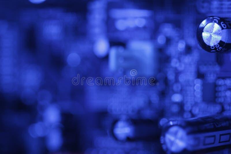 Blaue Leiterplatte stockbild