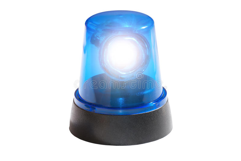 Blaue Leuchte lizenzfreie stockfotos