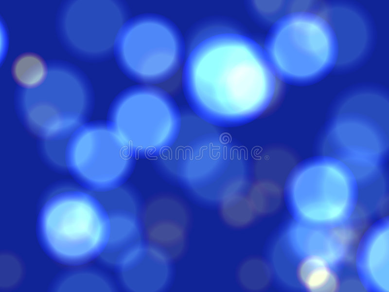 Blaue Leuchten lizenzfreie abbildung