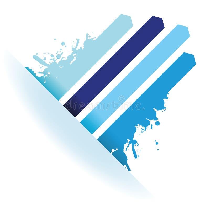 Blaue Linie Pfeilhintergrund des Spritzens stock abbildung