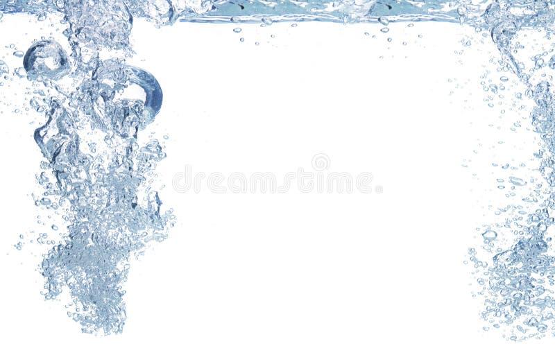 Blaue Luftblasen im Wasser lizenzfreie stockfotos