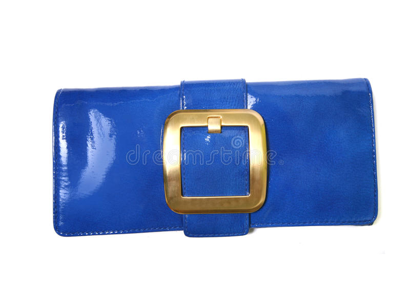 Blaue Luxuxhandtasche lizenzfreie stockfotografie