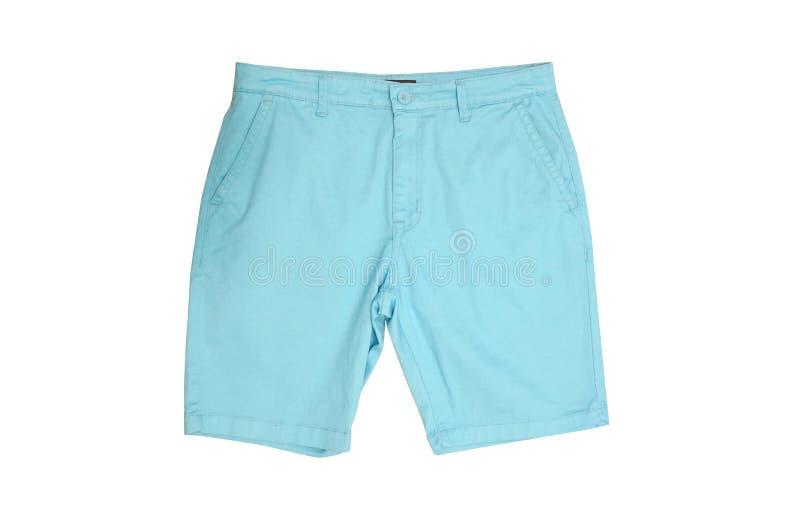 Blaue männliche kurze Hosen lizenzfreie stockbilder