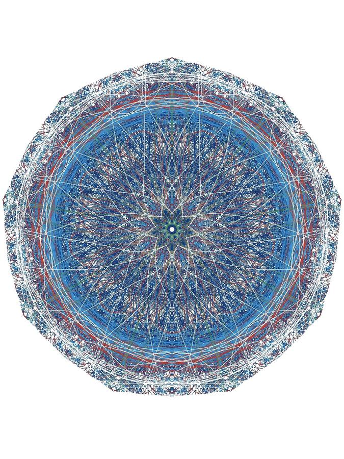 Blaue Mandala stockbilder