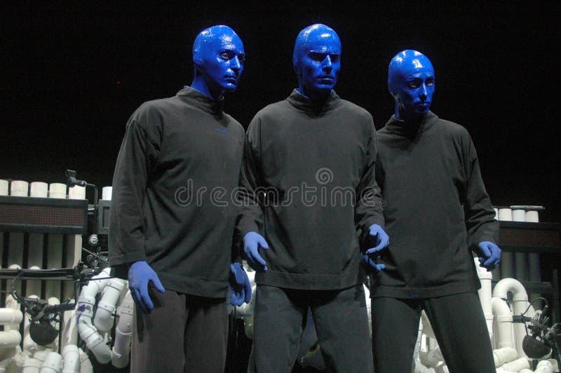 Blaue Mann-Gruppe lizenzfreies stockbild