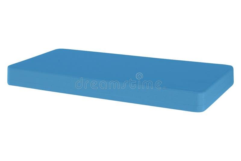 Blaue Matratze lokalisiert auf Weiß stockfotos
