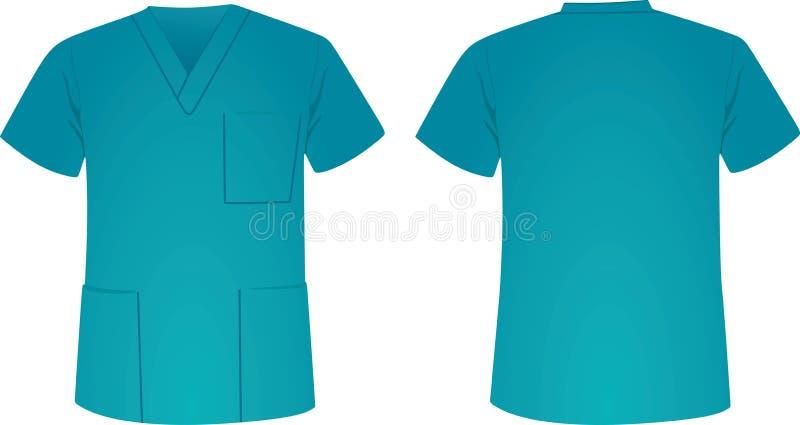 Blaue medizinische Uniform vektor abbildung