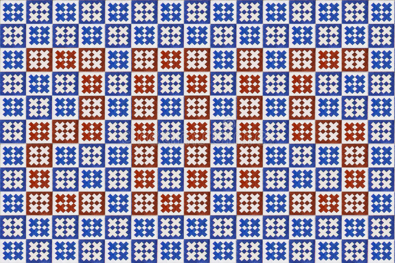 Blaue Mosaik azulejo Beschaffenheit in Lissabon lizenzfreie stockfotografie