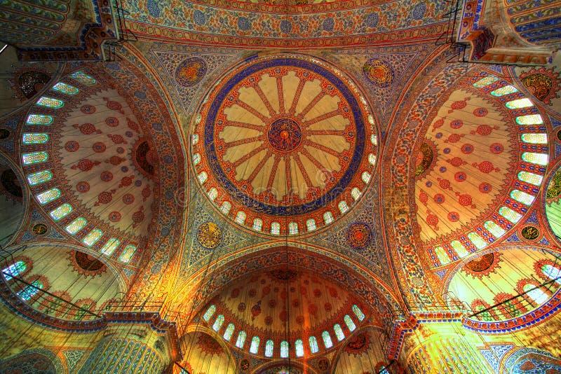 Blaue Moschee - orientalische Verzierungen lizenzfreie stockfotografie