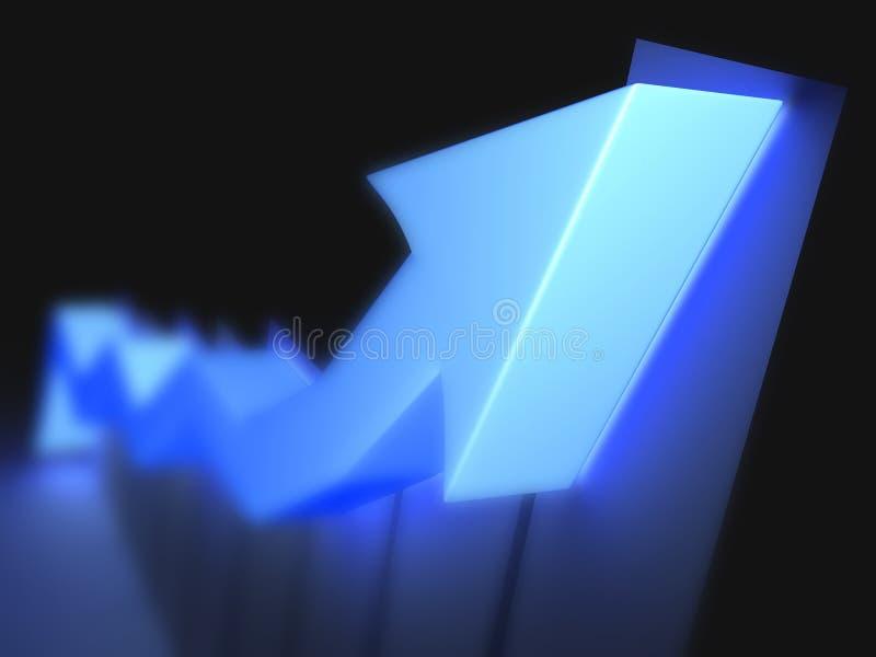 Blaue Nadelanzeige oben lizenzfreie abbildung