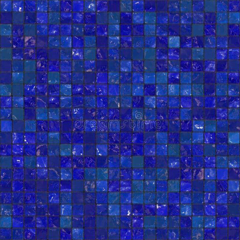 Blaue nahtlose Badezimmer-Fliesen lizenzfreie abbildung