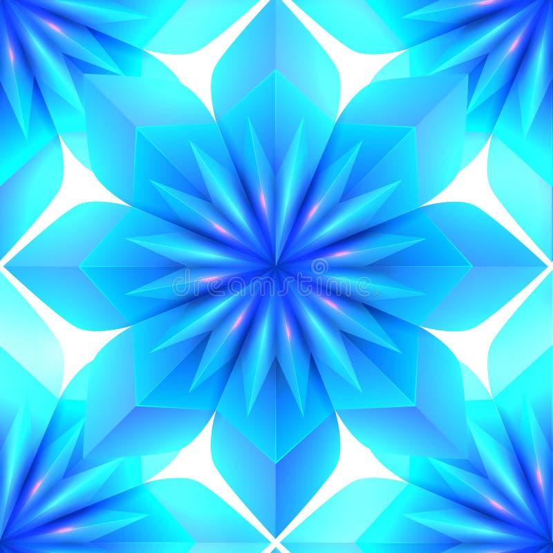 Blaue nahtlose Eisbeschaffenheit von Schneeflocken auf weißem Hintergrund Verschiedene Varianten der Farbe sind möglich stock abbildung