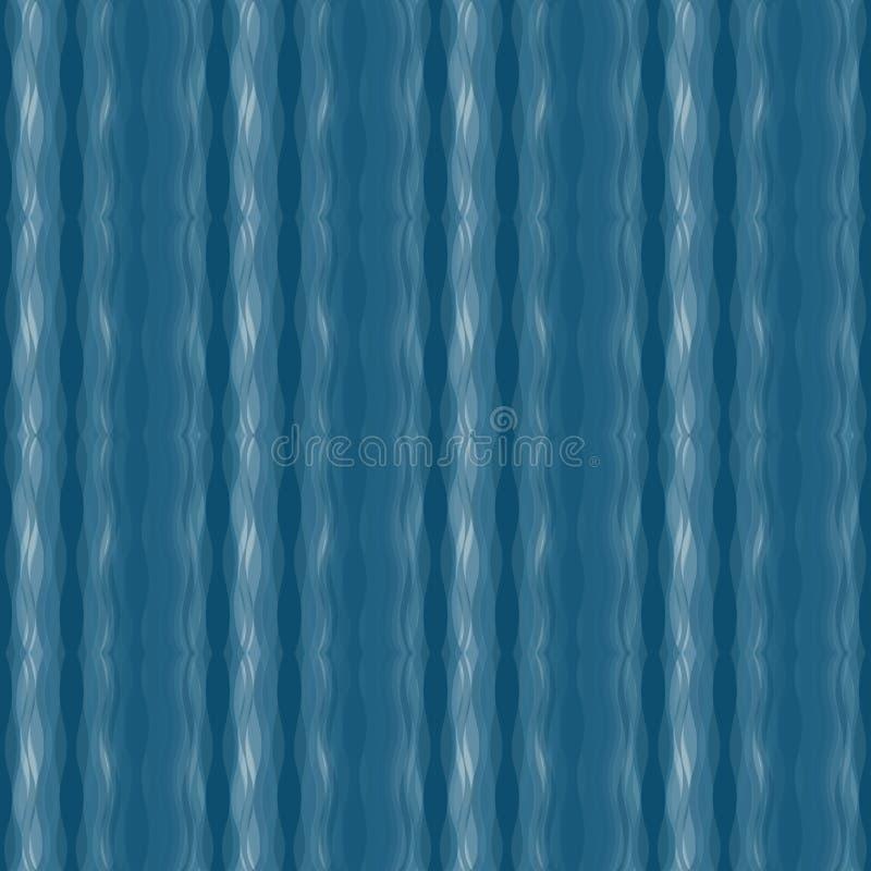 Blaue nahtlose gewellte Hintergrundbeschaffenheit vektor abbildung