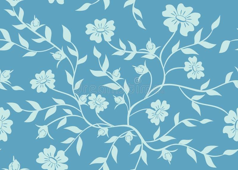 Blaue nahtlose mit Blumenbeschaffenheit vektor abbildung