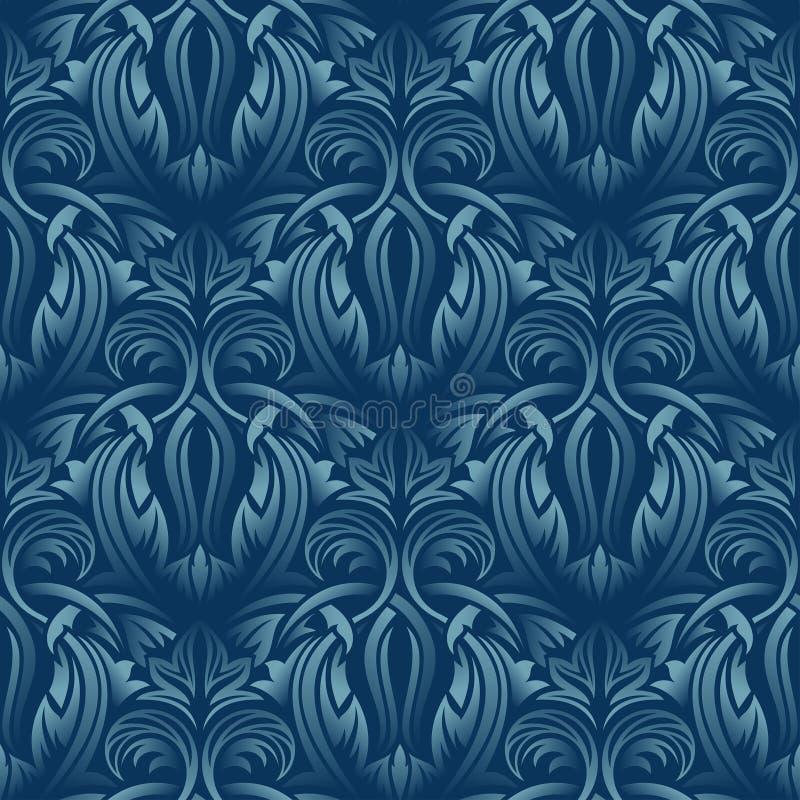 Blaue nahtlose Tapete lizenzfreie abbildung