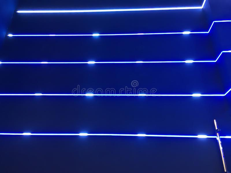 Blaue Neonleuchten vektor abbildung