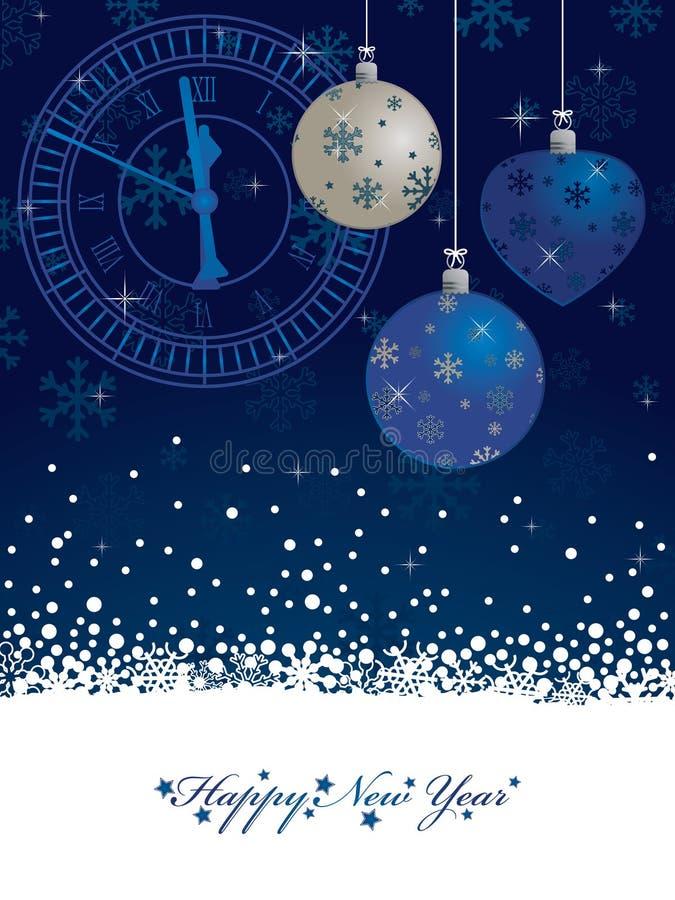 Blaue neue Jahre Hintergrund vektor abbildung