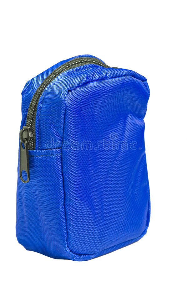 Blaue Nylontasche lizenzfreie stockfotos