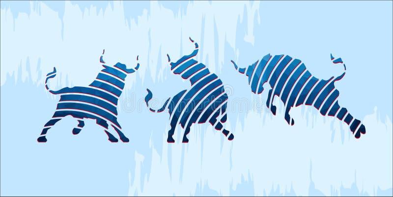 Blaue Ochsenikonen stockfotos