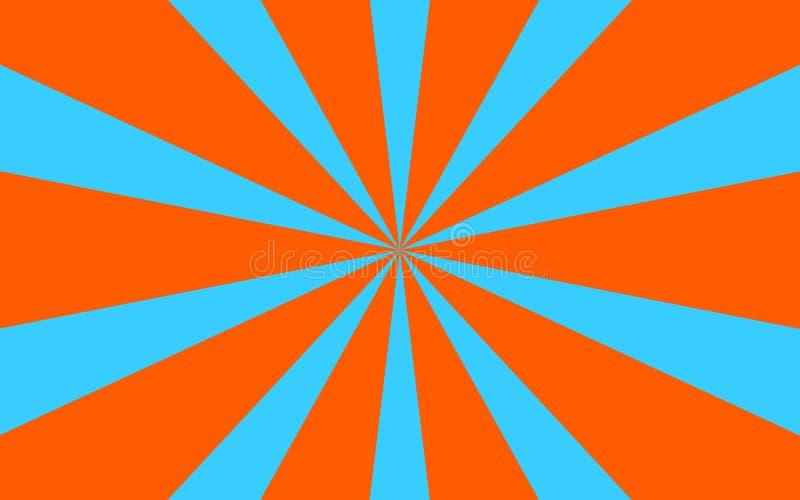 Blaue Orange strahlt Hintergrund aus lizenzfreie stockfotografie