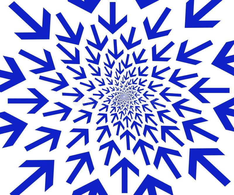 Blaue Pfeile. lizenzfreie abbildung