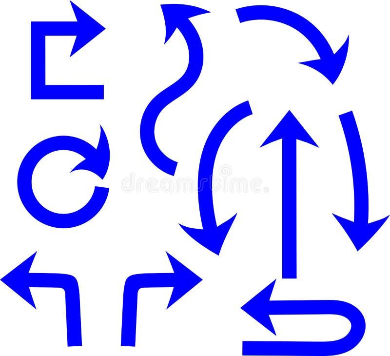 Blaue Pfeile auf weißem Hintergrund vektor abbildung