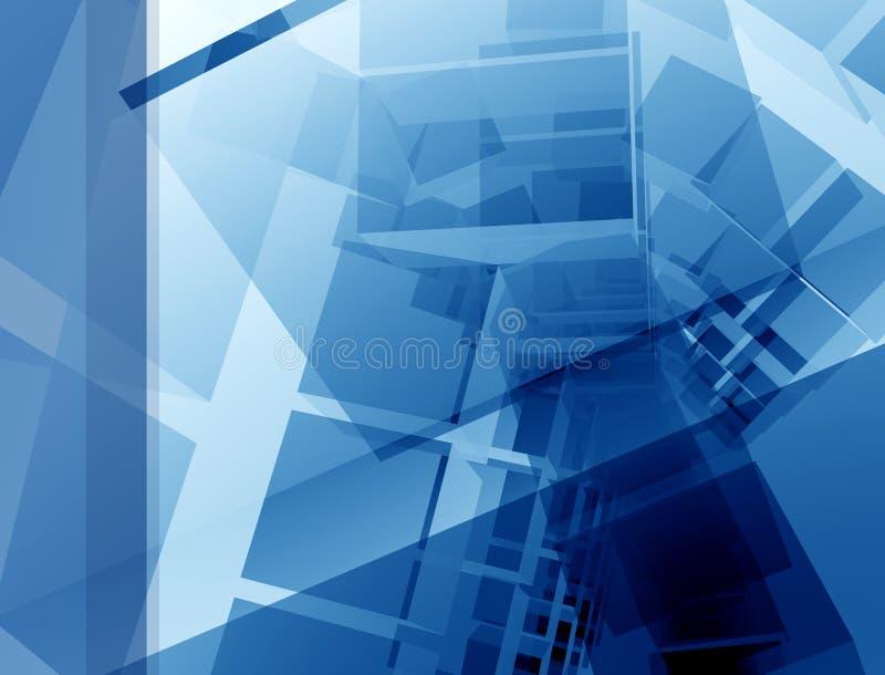 Blaue Planauslegung lizenzfreie abbildung