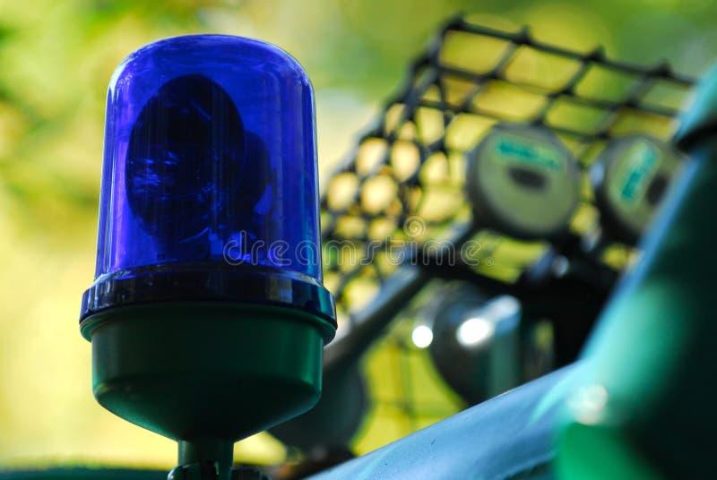 Blaue Polizeileuchte 2 lizenzfreies stockfoto
