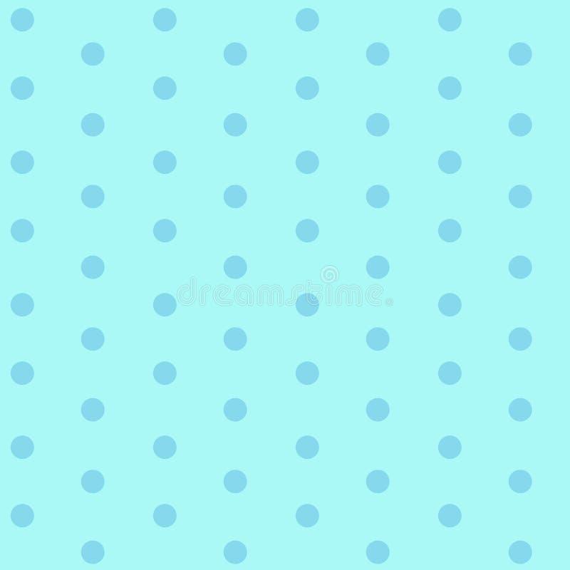 Blaue Punkte auf nahtlosem Muster des hellblauen Hintergrundes stock abbildung