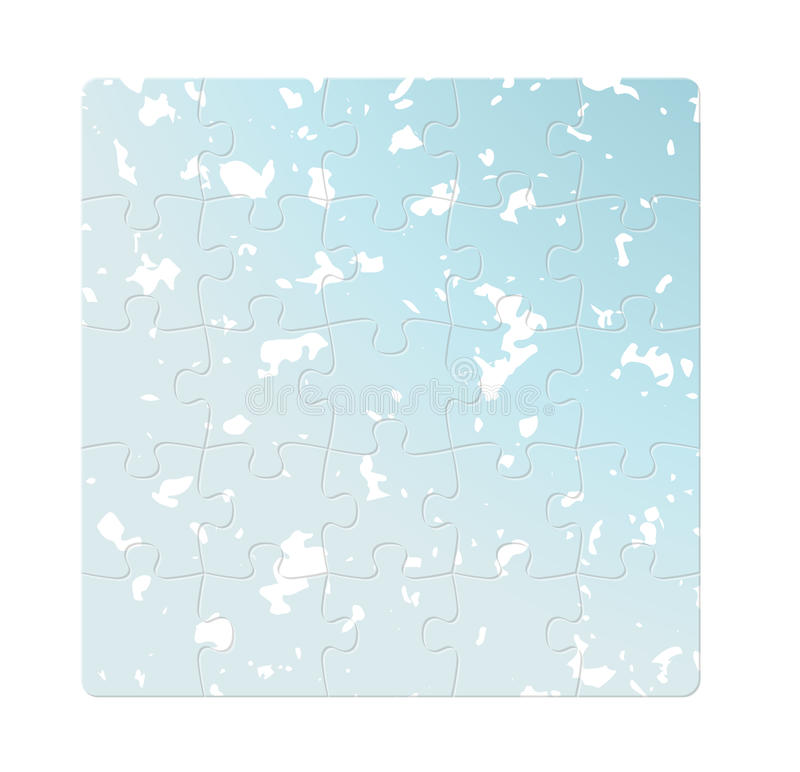 Blaue Puzzlespielfelder lizenzfreie abbildung