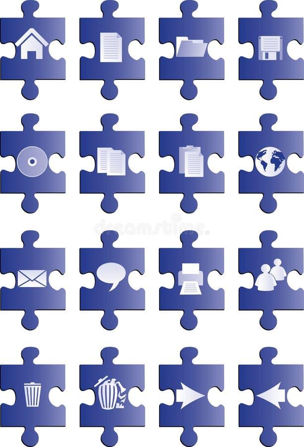 Blaue Puzzlespieltasten vektor abbildung