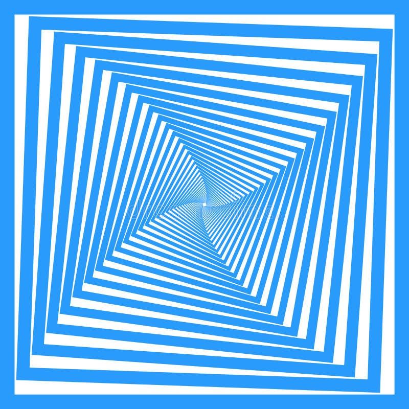 Blaue Quadratauslegung. vektor abbildung