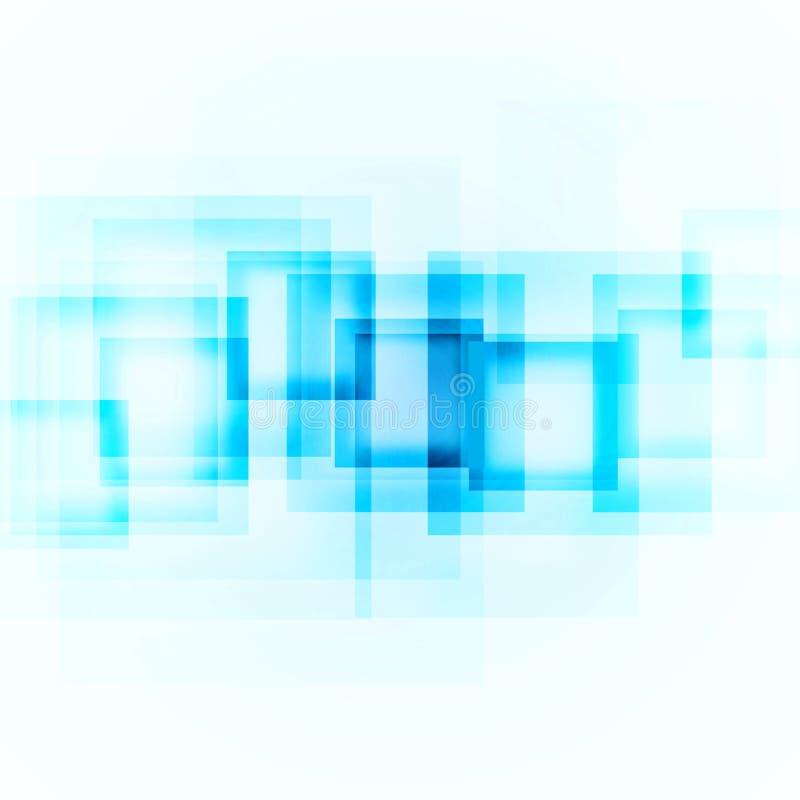 Blaue Quadrate auf einem weißen Hintergrund lizenzfreie abbildung