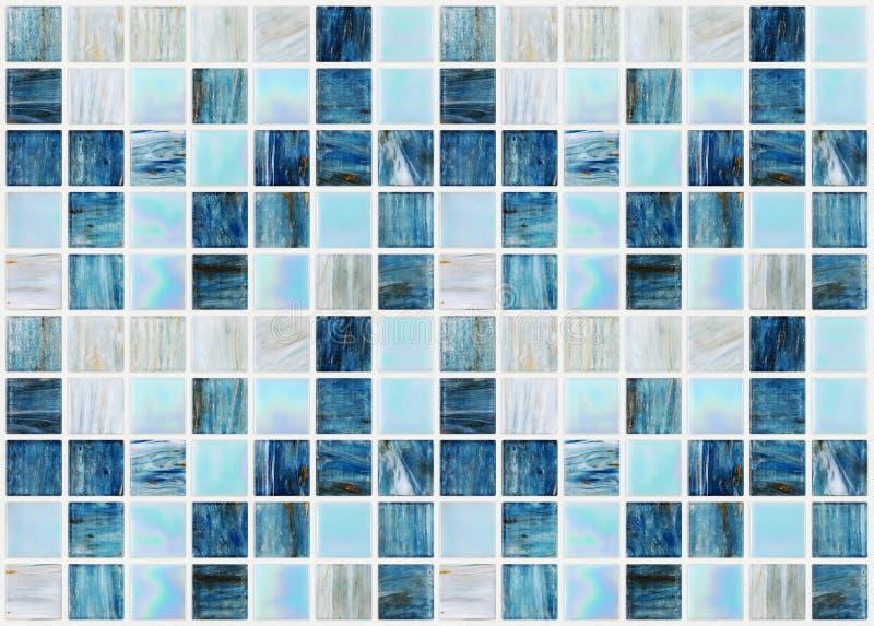 Blaue Quadratische Fliesen Mit Verschiedenem Effektmarmor