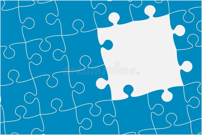 Blaue Rahmen-Stücke verwirren Zackige Fahne Vektor lizenzfreie abbildung