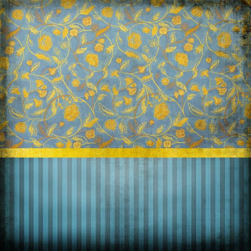 Blaue retro tapete stock abbildung illustration von blau for Blaue tapete