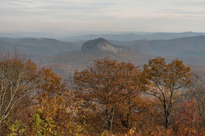 Blaue Ridge Parkway-Aussicht im Herbst stockbilder