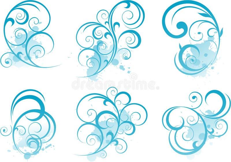 Blaue Rolleform stock abbildung