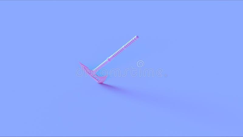 Blaue rosa Kampf-Axt lizenzfreie abbildung