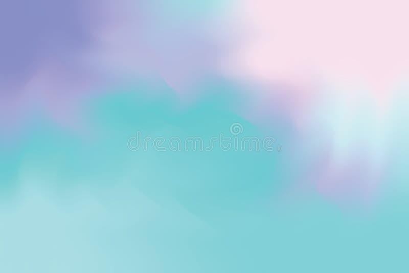 Blaue rosa purpurrote weiche Farbe mischte Hintergrundmalerei-Kunst-Pastellzusammenfassung, bunte Kunsttapete lizenzfreie abbildung
