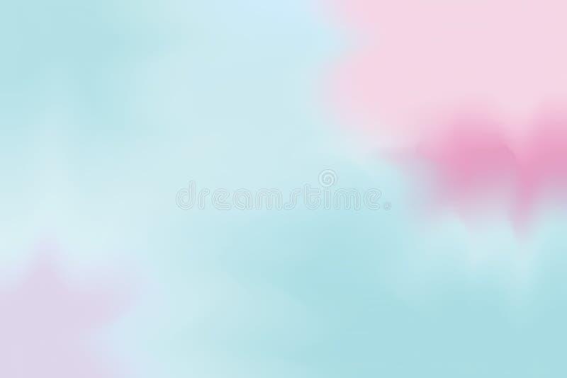 Blaue rosa weiche Farbe mischte Hintergrundmalerei-Kunst-Pastellzusammenfassung, bunte Kunsttapete stock abbildung