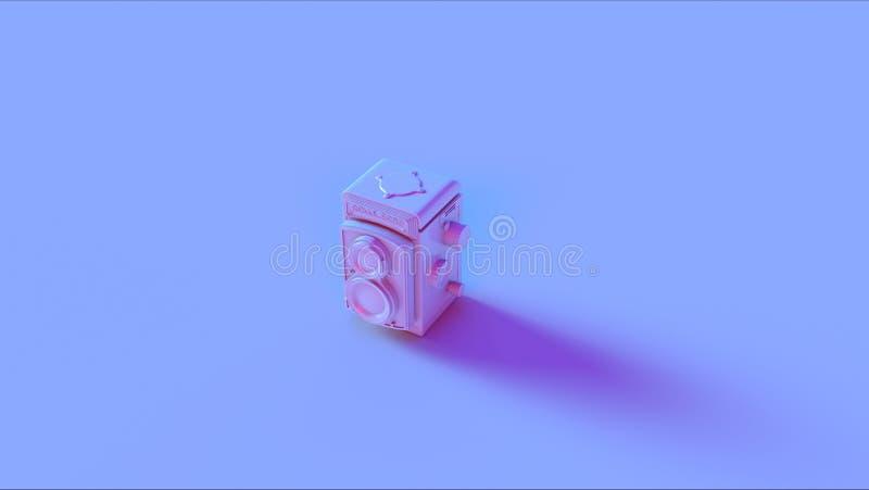 Blaue Rosa-Weinlese-Retro- Kamera stock abbildung