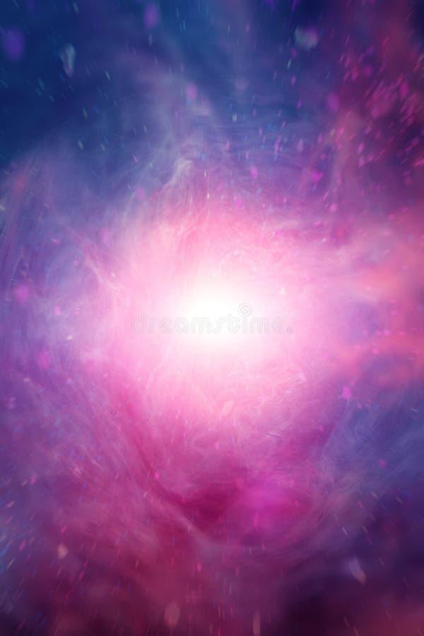 Blaue rosa Wolken mit geistigem Licht lizenzfreie stockfotos